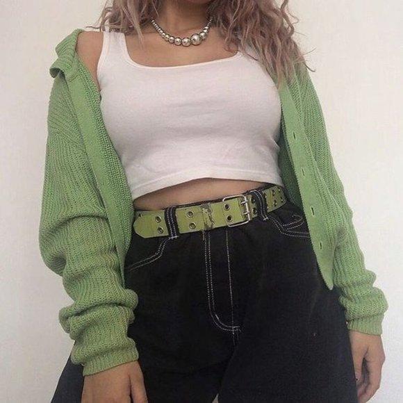 Pinterest Green Cardigan Dupe